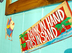 DRINK IN HAND - TOES IN SAND