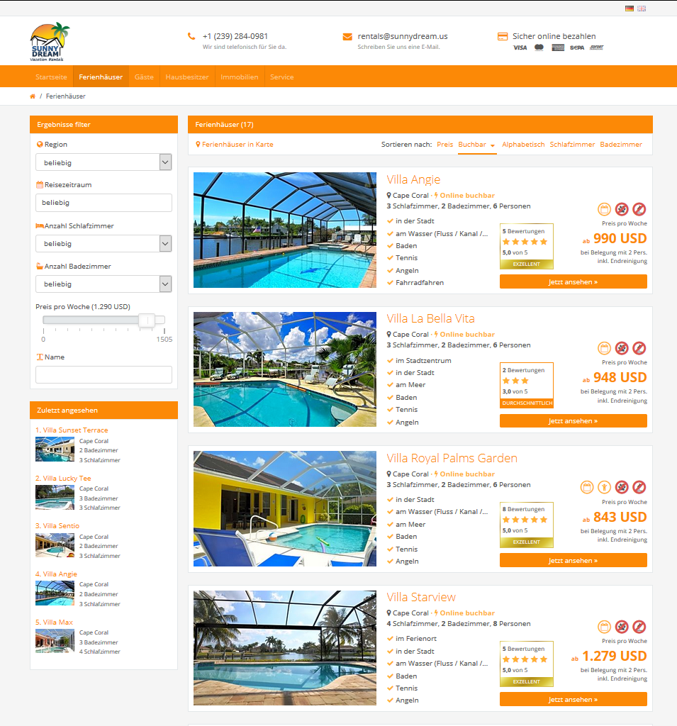Sunny Dream Vacation Rentals